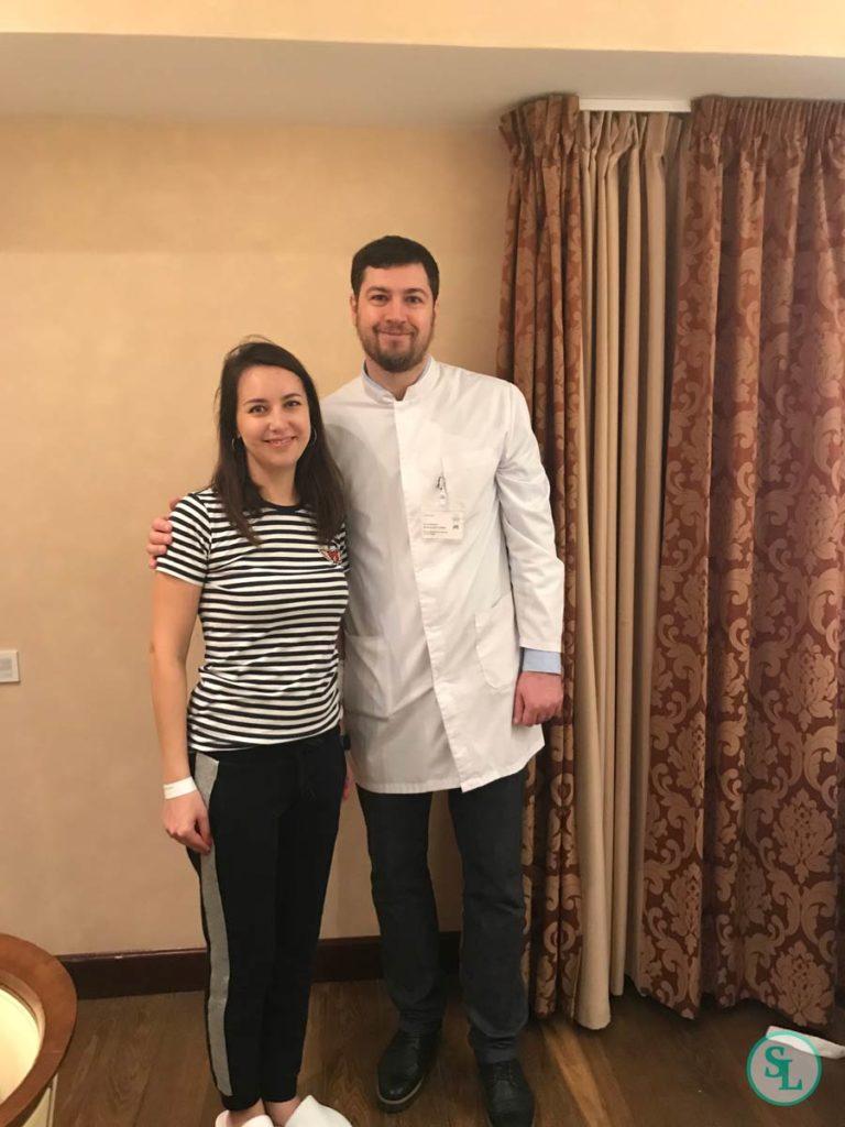 Фото с Барченко Б.Ю. после операции