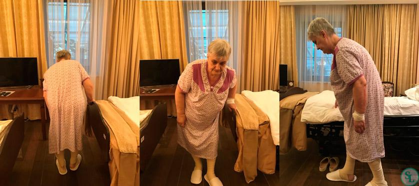 Пациентка 62 лет из г. Тула с жалобами на сильные боли в поясничном отделе